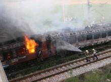 Запали се нощният влак Бургас-София