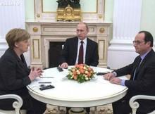 Путин призова Меркел и Оланд да окажат натиск върху Украйна да спазва споразуменията от Минск
