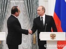 """Оланд изрази пред Путин своето """"обезпокоение"""" от повишеното напрежение в Украйна"""