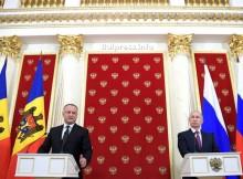 Владимир Путин похвали президента на Молдова Игор Додон за мъжеството
