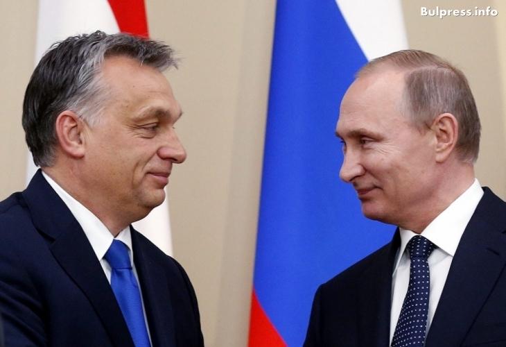 Путин пристигна в Унгария за среща с Орбан