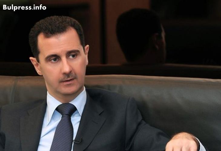 """Башар Асад посочи главната цел на офанзивата срещу """"Ислямска държава"""""""