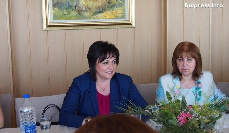 """Корнелия Нинова: Обединението на жените в БСП започваме национална кампания: """"Жените срещу насилието"""""""
