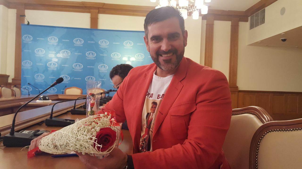 Една Българска роза за Мария Захарова