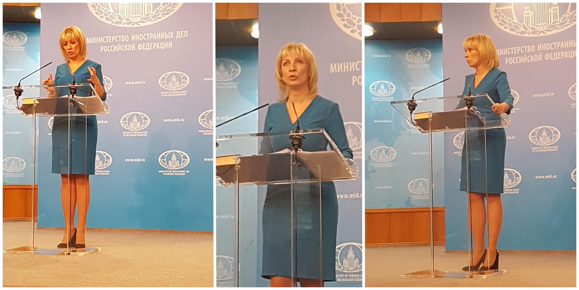 Здравейте, на днешния Брифинг с Мария Владимировна Захарова