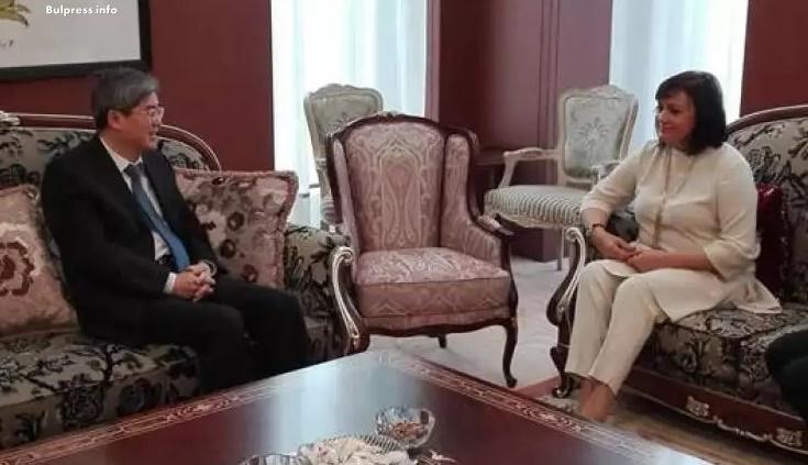 Корнелия Нинова се срещна с китайския посланик