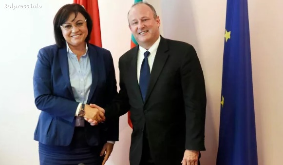 Председателят на БСП Корнелия Нинова се срещна с посланика на САЩ