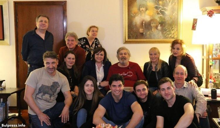 Корнелия Нинова и Елена Йончева поздравиха Стефан Данаилов по случай Международния ден на театъра