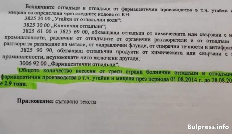 Лъжа е, че в България не е внасян болничен отпадък