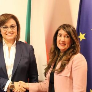 Корнелия Нинова проведе видеоконферентна среща с посланика на САЩ Н. Пр. г-жа Херо Мустафа