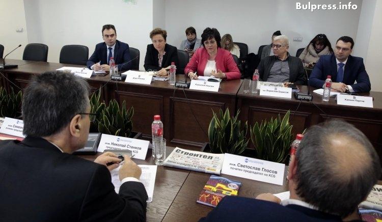 Корнелия Нинова след срещата с КСБ: Има нужда от държавно инвестиране в строителството