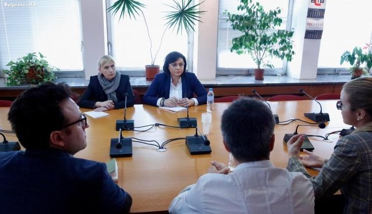 Корнелия Нинова пред Асоциацията на европейските журналисти -България: Законът и свободата стоят над партийния интерес.