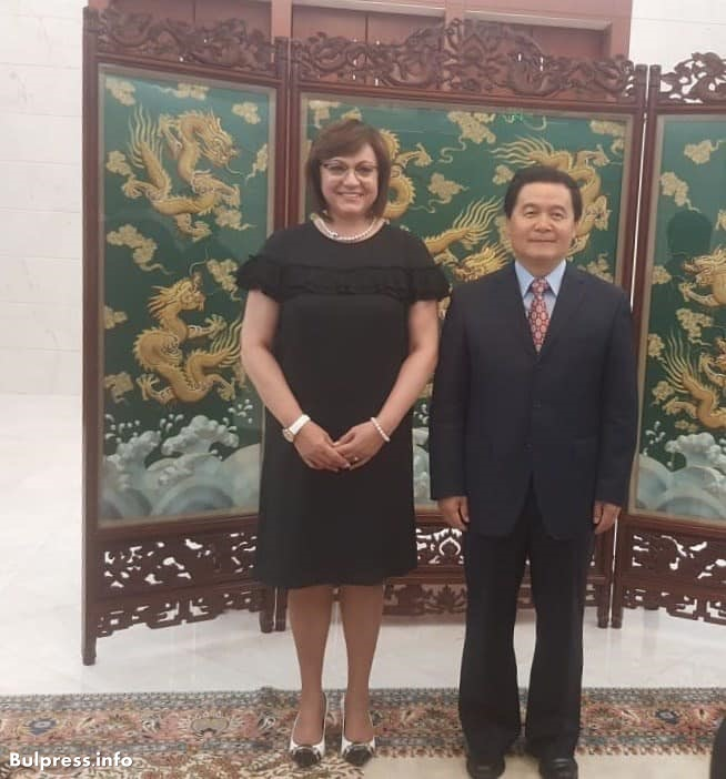 Корнелия Нинова се срещна с посланика на Китай