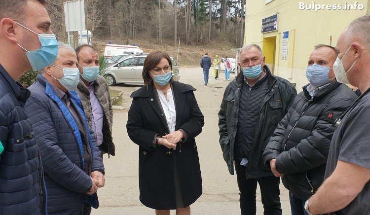 Нинова от Гоце Делчев: При спечелване на изборите започваме незабавни преговори за доставка на ваксини от Русия и Китай